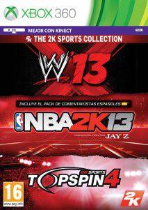 2k sports bundle (nba 2k13-wwe 2k13-top spin 4) x360
